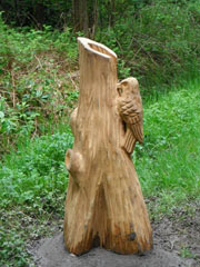 Great Spotted Woodpecker Carving PCP reduced